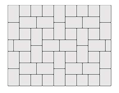 3-piece-cobblestone pattern