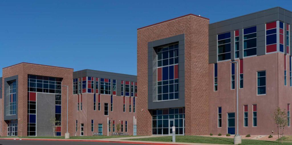 Sunroc CMU block used to build Crimson High School