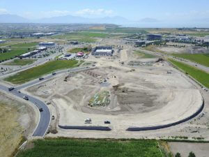 Evermore Park Construction aerial view
