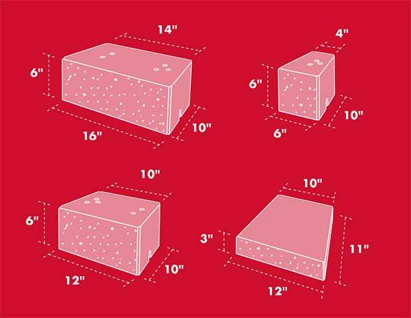 Stone gate dimensions