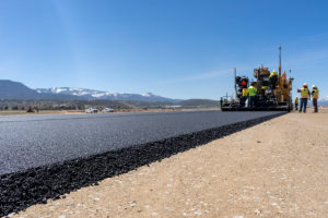paving asphalt with tight tolerances