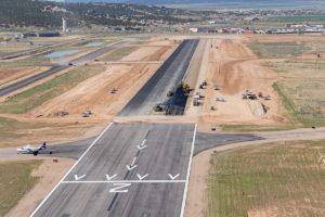 rehabilitating Runway 8-26 with new asphalt in Cedar City Regional Airport