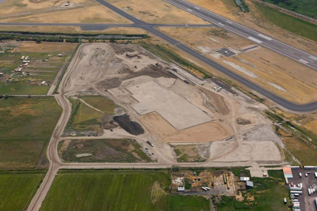 Duncan Aviation construction aerial 2017
