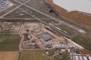 Duncan Aviation construction aerial 2018