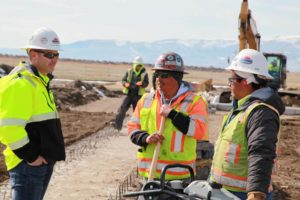 Duncan Aviation construction crew working