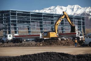 Duncan Aviation construction track hoe excavation