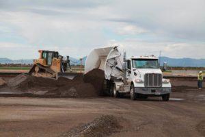 Duncan Aviation road construction