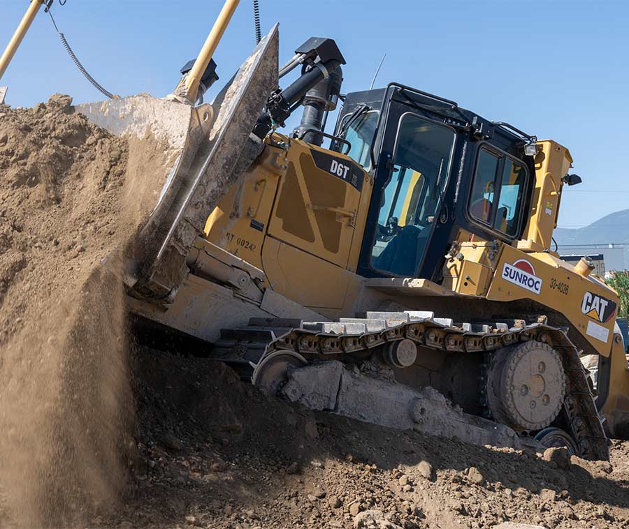 Dozer grading for utility installation