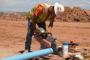 GrayHawk Apartments waterline installation