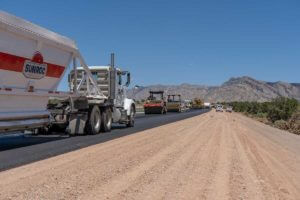 Delivering Asphalt Mix to I-15 job