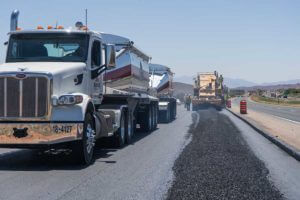 Paving Asphalt Mix on I-15