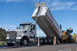 Sunroc Paving Hot Mix Asphalt on SR-12 Near Bryce Canyon Utah