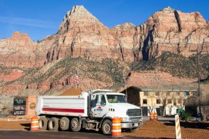 SR-9-Springdale Zion National Park Entrance Dump Truck Road base