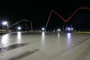 Sunroc seamless concrete slab pour