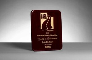 2020 Utah Asphalt Paving Association, Best Quality in Construction for Cedar City Airport Reconstruction