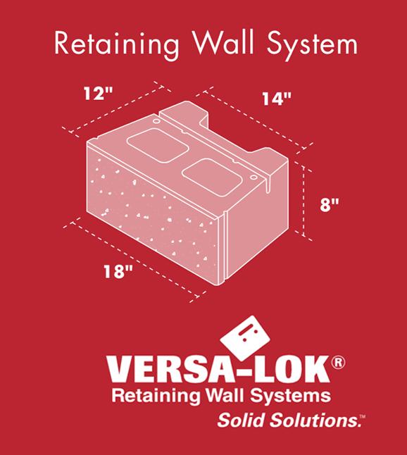 Versa Lok Square Foot Retaining Wall System