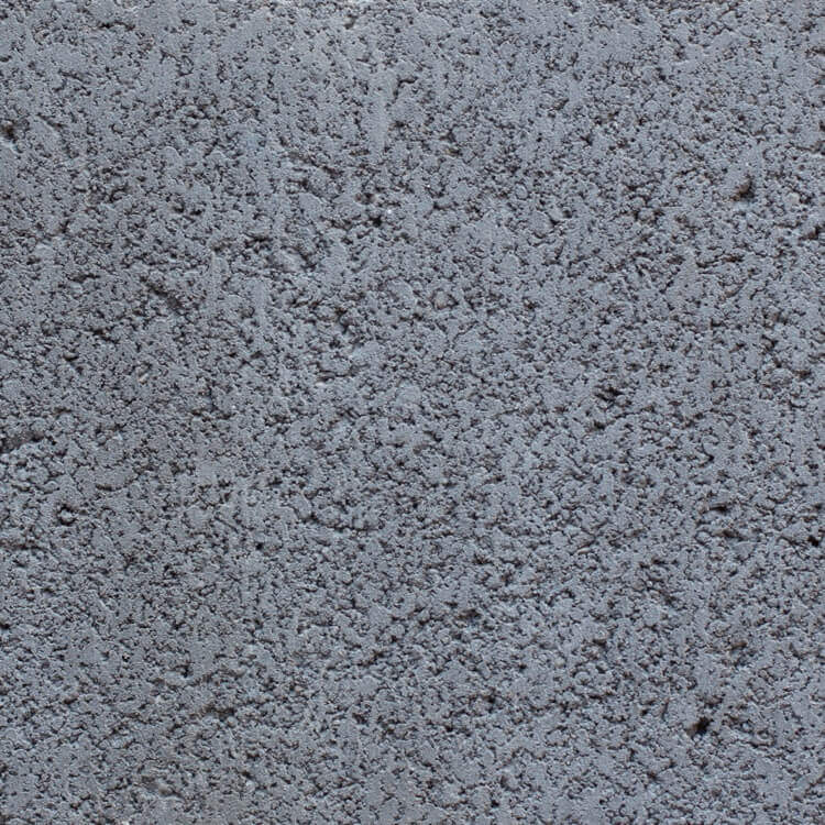 Charcoal | Smooth - Smooth units offer the precision finish of the block mold. They invoke a clean, consistent feel with little variation in color as the individual aggregate units are not expressly visible.