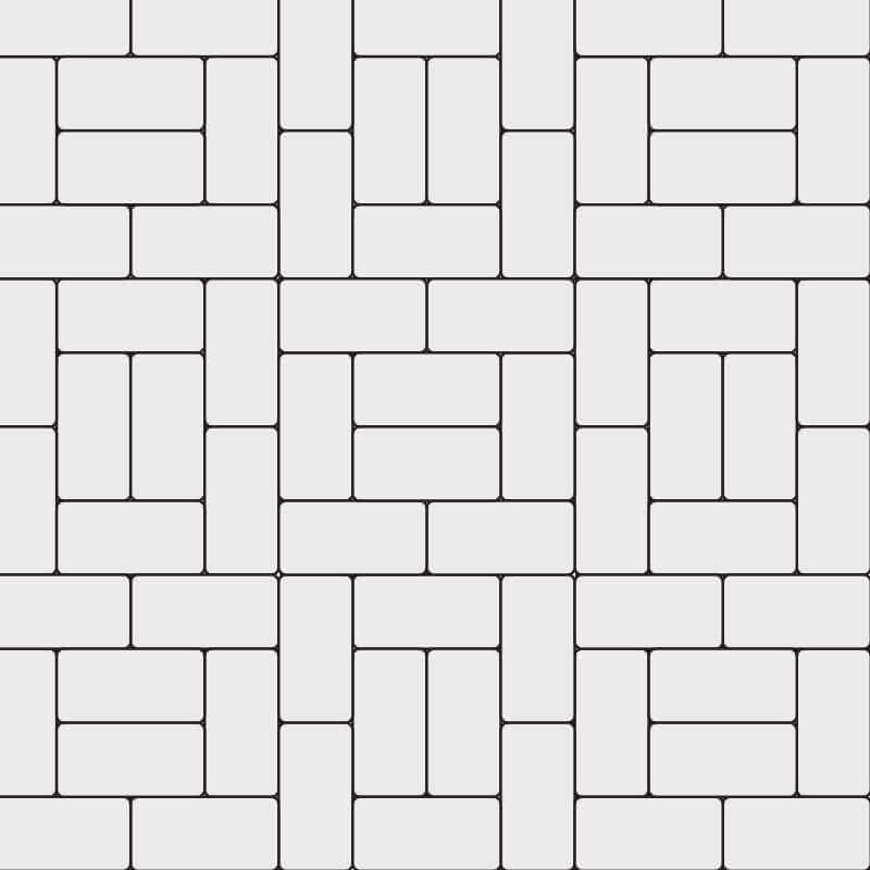 4x8 Boxed Basket Weave