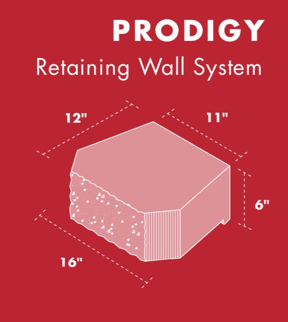 Prodigy Retaining wall block