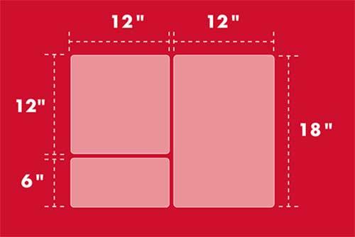 3 piece large slab dimensions